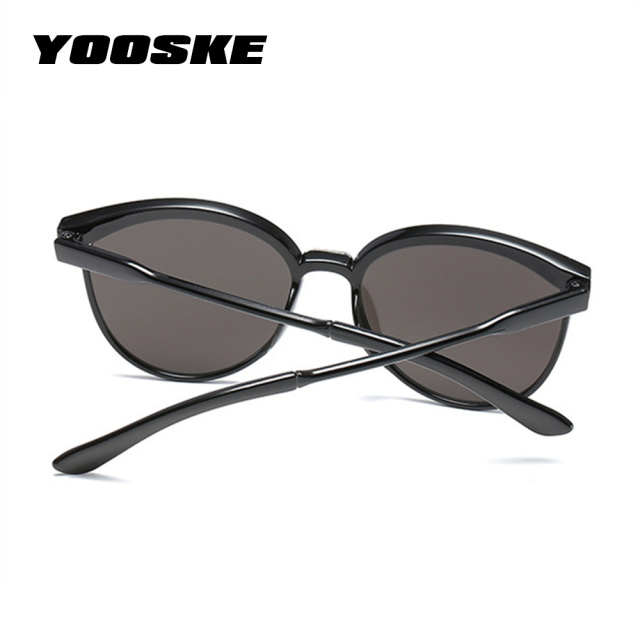 YOOSKE Cat Eye Sunglasses Women Men Vintage Mirror Sunglass Womens Brand Designer Retro Sun Glasses Goggles Eyewear UV400