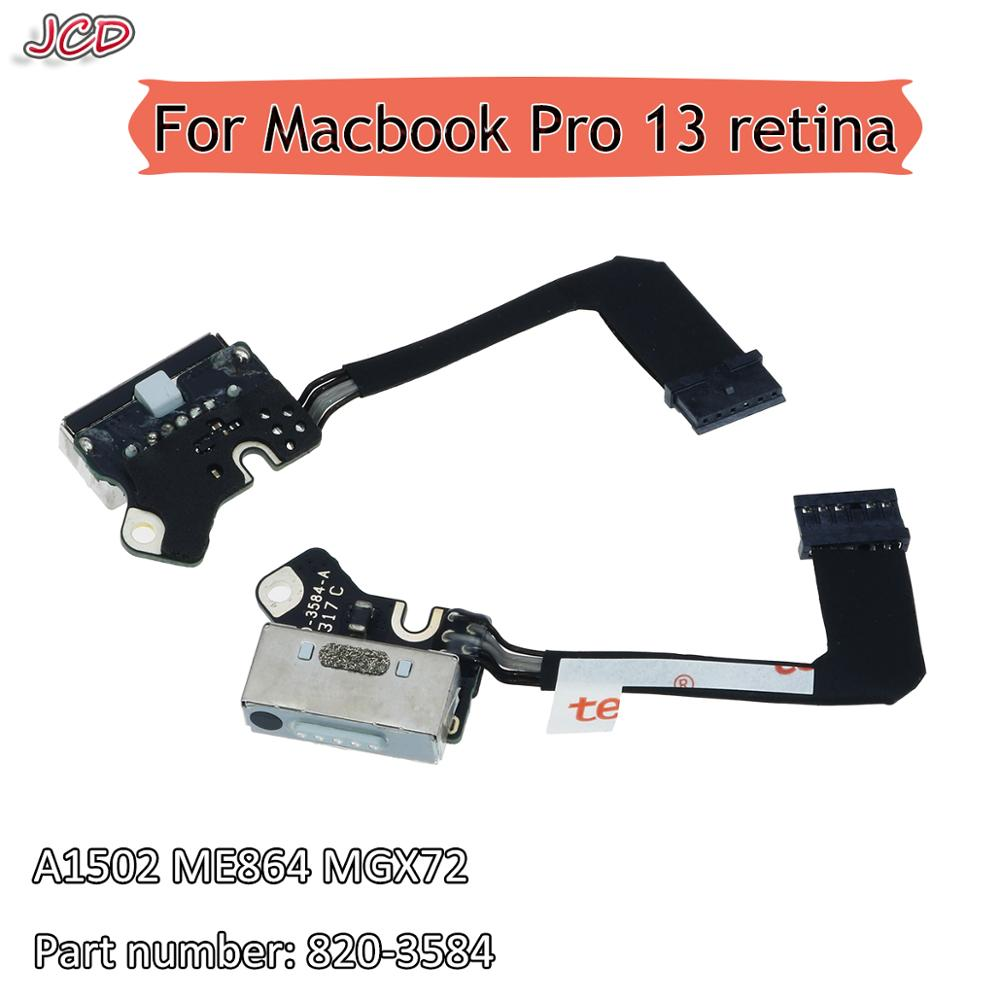 JCD DC-IN Power Jack Board 820-3584-A For Macbook Pro Charging Port 13.3 inch A1502 Power DC Jack 13 Retina 2013 2014 2015