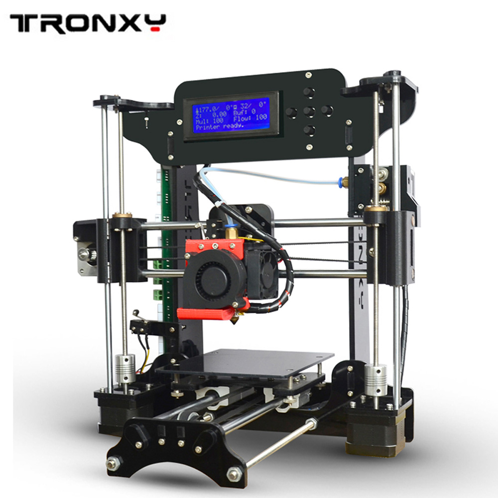Genuine Tronxy XY-100 Cheap 3D Printer Kit big print size precision Acrylic High Precision Diy Filament LCD 8G SD Card As a Gift tronxy acrylic p802 mts 3d printer