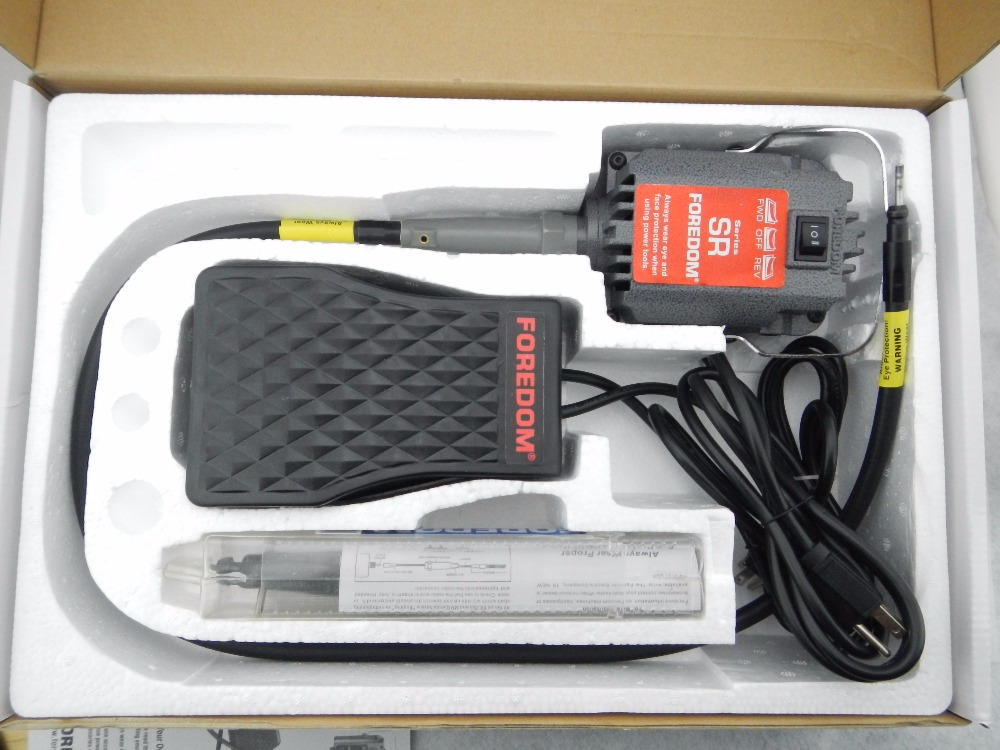 Foredom SR machine à arbre flexible, moteur de polissage dentaire, machine à arbre flexible, montre gravure brunissage meulage kit d'outils rotatifs - 6