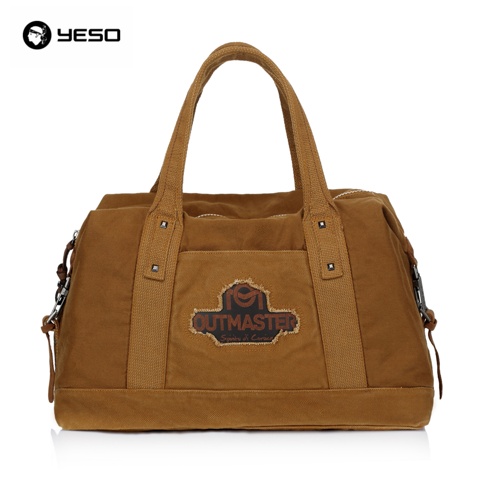 YESO Brand New Fashion Vintage Large Capacity Casual Men Canvas Zipper Handbag Practical Travel Shoulder Bags Women Luggage Bags