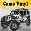 Jumbo Camo Sticker Bomb Vinyl Car Wrap Black Grey White Snow Camouflage Vinyl Bubble Free Size