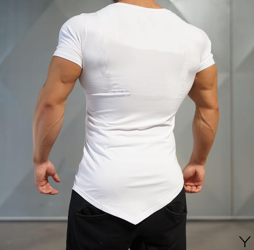 Muscle Guys Fashion Fitness T shirts Bodybuilding Fitness Brand Gyms clothing cotton Mens Short Sleeve tshirt Workout Tees in T Shirts from Men 39 s Clothing