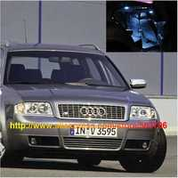 Free Shipping 21pcs/lot car-styling White Interior LED Lights For Audi S6 C5 Avant 1999-2003