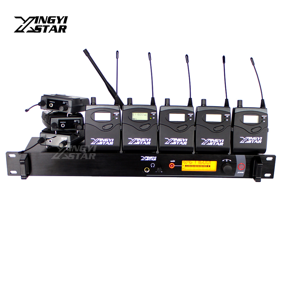 SR2000 Professional Monitoring UHF Wireless In Ear Earphone Stage Monitor System Transmitter With 8 Beltpack Receivers SR 2000 6 pack receivers wireless in ear monitor system professional dual channels transmitter sr 2050 iem