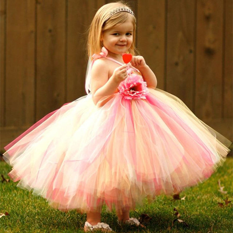 все цены на Baby Girls Rainbow Tutu Dress For Birthday Wedding Festival Photo Kids Summer Dresses Girl Christmas Party Costume Photo Props онлайн