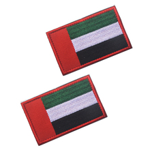 лучшая цена UAE National Flag Embroidery Patch Embroidered Patches Military Tactical Armband Fabric Sticker Sewing Applique For Jacket Caps