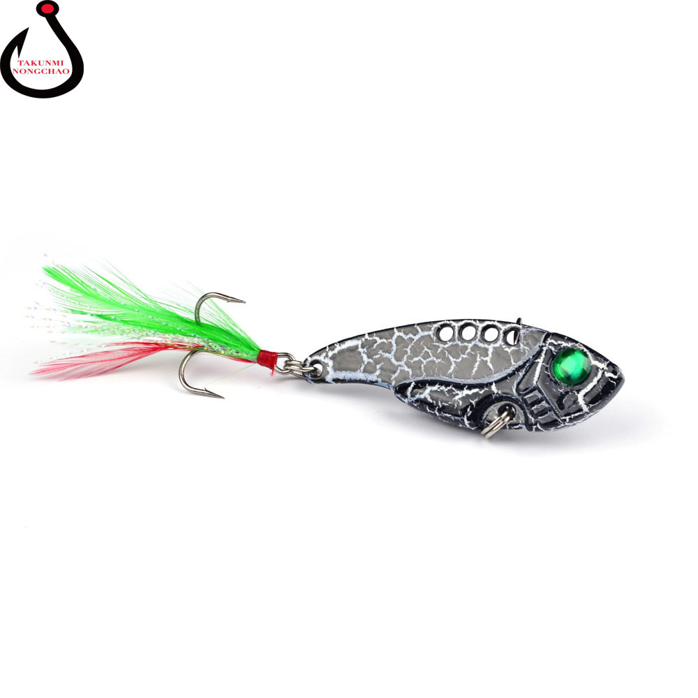 New Fishing Lure Metal Bait Lures Vib Swimbait 8Color 11g Hooks Tackle Accessories Fishing Products WS-04