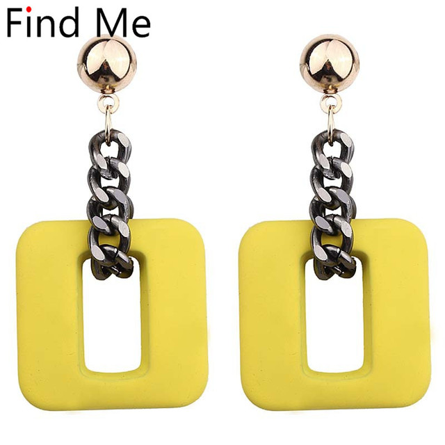 Find Me 2019 new high-grade Fashion resin chain Drop Earrings For Women Jewelry