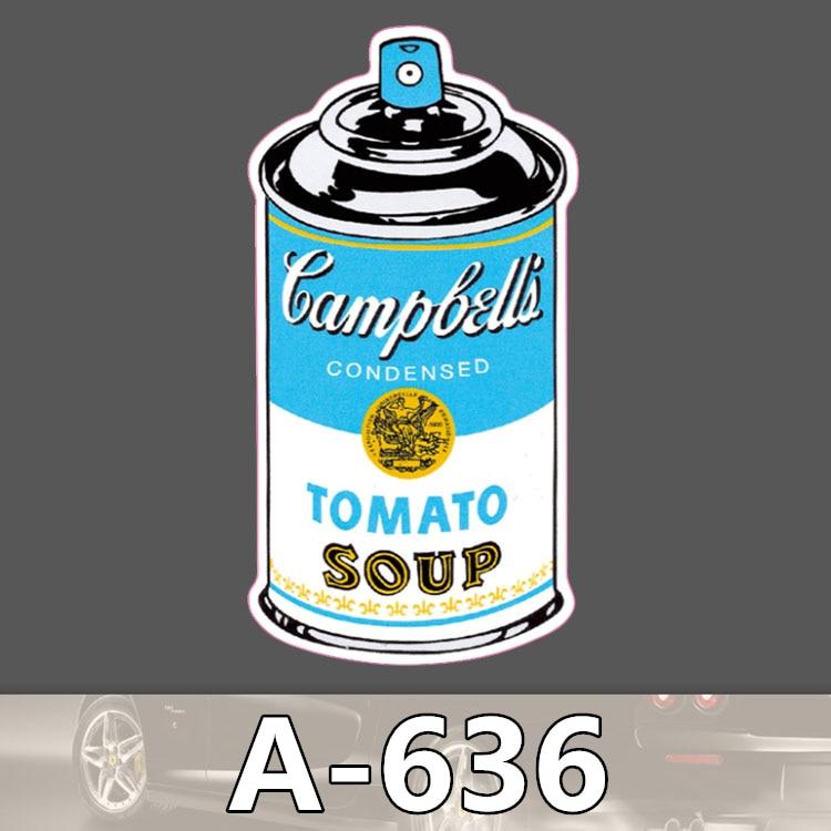 A 636 Tomato Soup Can Waterproof Cool DIY Stickers For Laptop Luggage Fridge Skateboard Car Graffiti