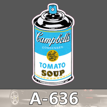 A-636 Tomaten Suppe Kann Wasserdichte Kühle DIY Aufkleber Für Laptop Gepäck Skateboard Kühlschrank Auto Graffiti Cartoon Aufkleber