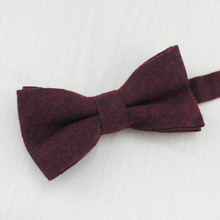 Solid Color Soft Cotton 5.5cm Tie +Bowtie +Handkerchief Set