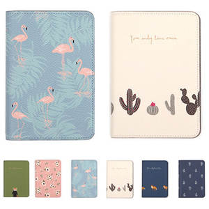 Passport-Holder Flamingo-Cover Printing Travel Women PU for on The