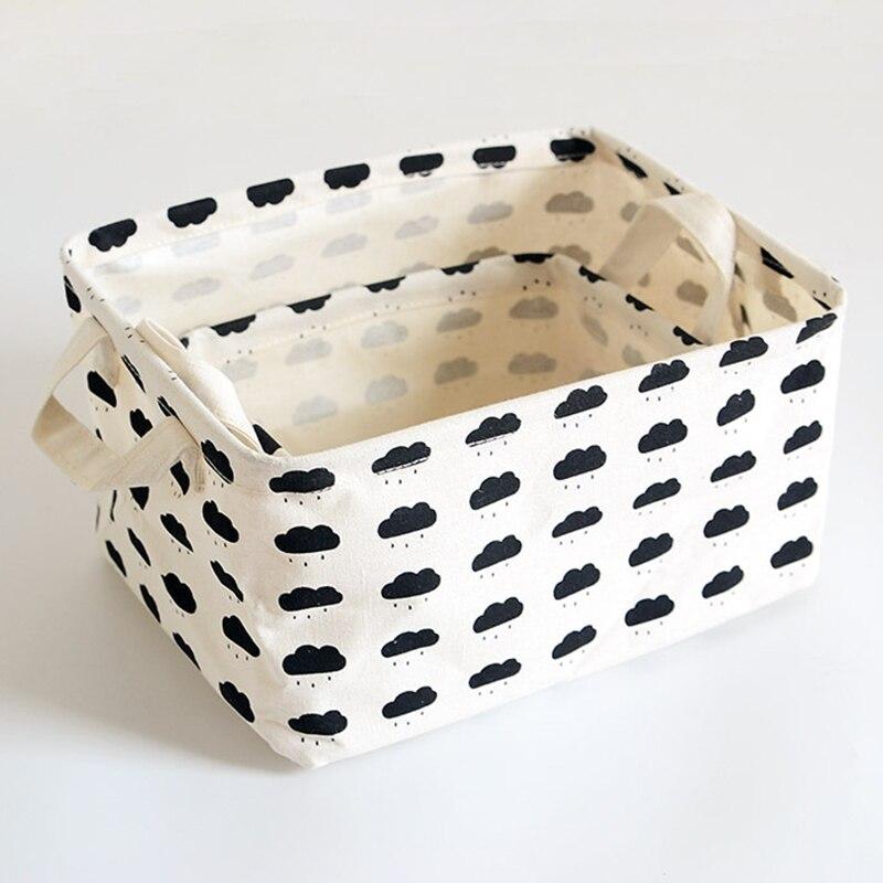 Organizer Storage-Basket Pattern-Storage Cloth Cotton Linen Geometry