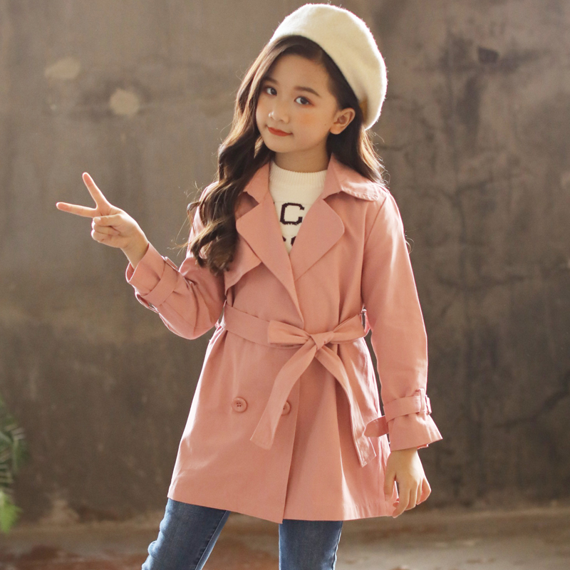Back to School Outfits Autumn Jackets Girls Coat 2018 Children Jackets Kids Clothes Windbreaker Fashion Girls Trench Coats Tops цена 2017