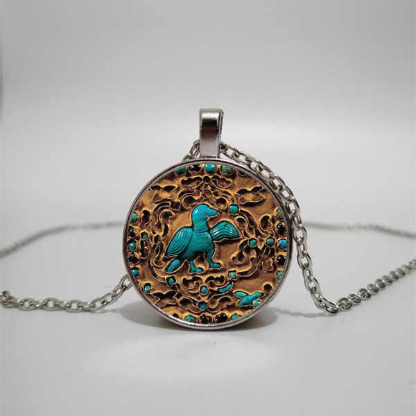 Zachodniej Hansong kamień złota płyta szklany naszyjnik mężczyzn i kobiet naszyjnik biżuteria wisiorek naszyjnik DIY dostosowane zdjęcia