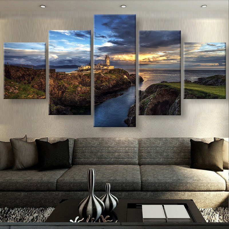 5 Panels Canvas Prints VIEWS OF IRELAND Painting Poster Home Decor Wall Art For Living Room In Calligraphy From Garden On