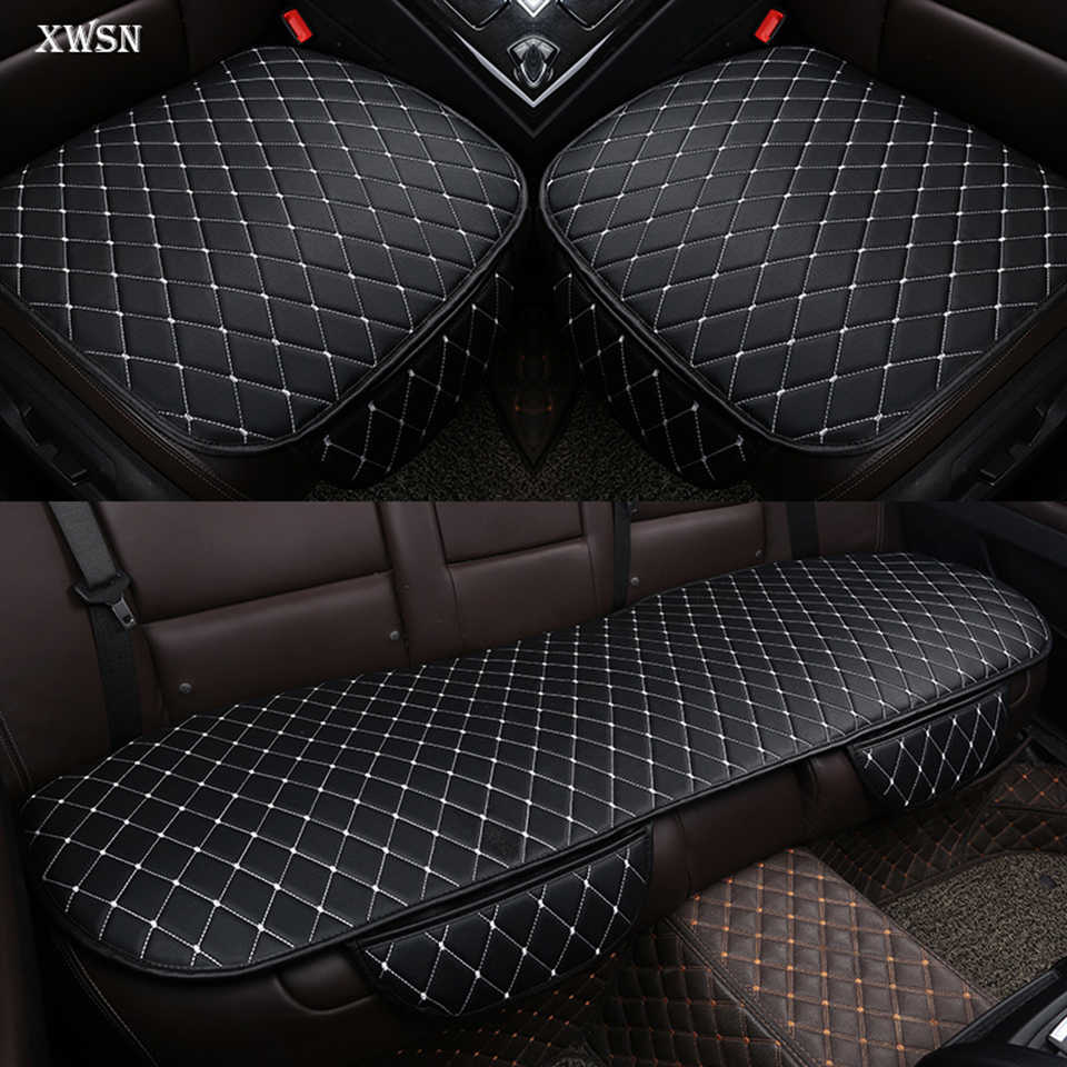 Универсальная подушка на сиденье автомобиля из искусственной кожи для ford focus 2 3 S-MAX fiesta kuga 2017 ranger mondeo mk3, чехол на сиденье автомобиля