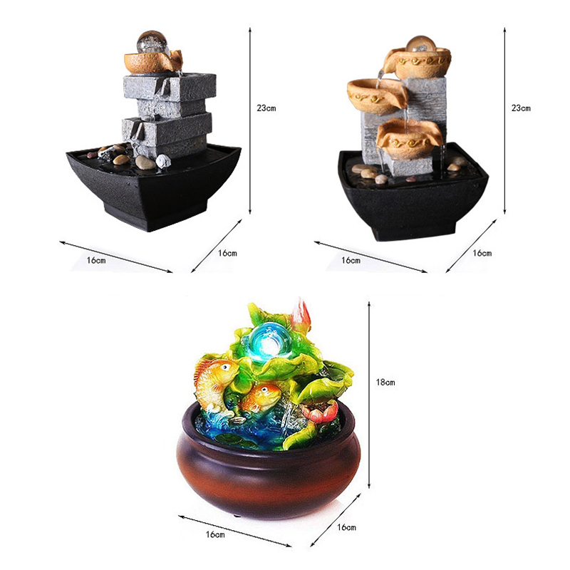 Office Water Features. 110v 240v Europe Mini Fountain Water Features Feng  Shui Crystal Ball Lucky