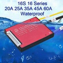 Placa de protección de batería de litio, 16S, 20A, 30A, 40A, 50A, 60A, 60V, balance BMS, fosfato de hierro y litio de 48V, 18650 li ion LiFePO4