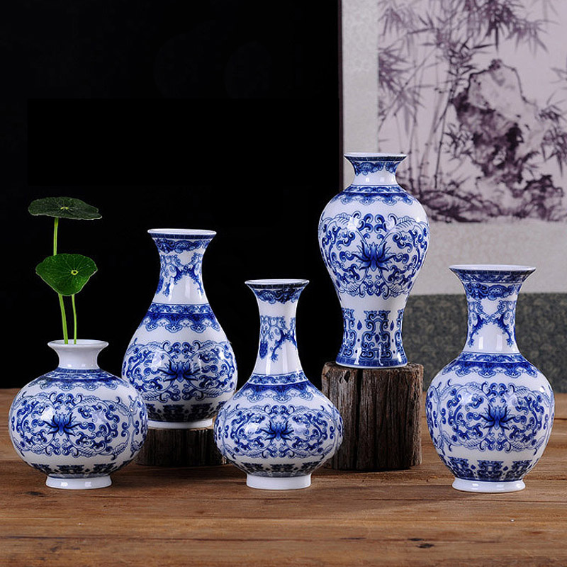 Online Buy Wholesale blue and white porcelain vases from