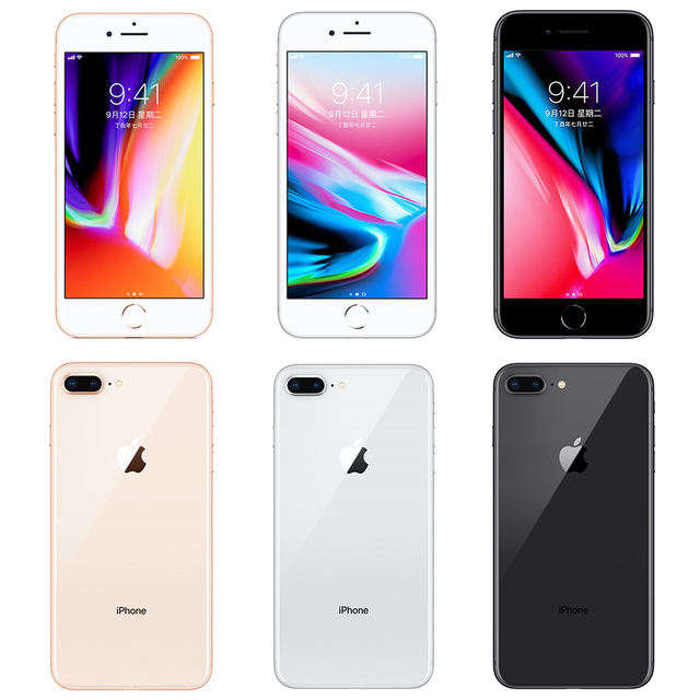 Unlocked Apple Iphone 8 plus 2675mAh 3GB RAM 64G/256G ROM 12.0 MP Fingerprint iOS 11 4G LTE smartphone 1080P 5.5 inch screen 2