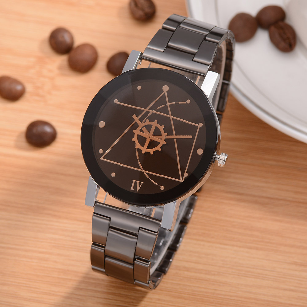 Couple Watch Casual Simple Totem Disign Men Women WristWatch Stainless Steel Fashion Wristwatch Beloved Clock Reloj Hombre Mujer