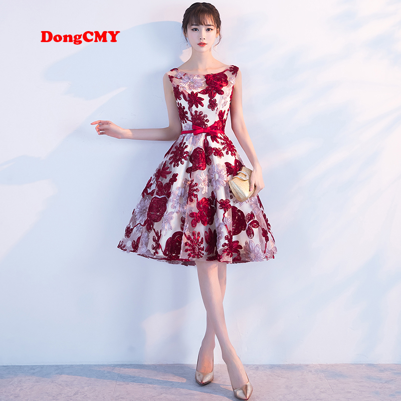 DongCMY   Prom     dress   2019 new short desgin girls elegant party fashion plus size