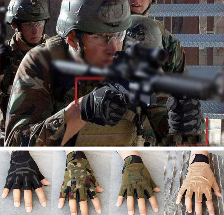 ФОТО The same paragraph Phoenix men and women tactical half - finger gloves outdoor sports riding military fans fighting seals gloves