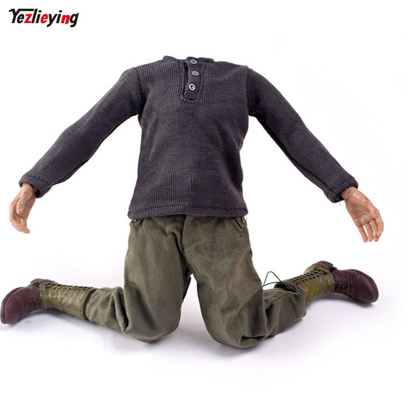 1 6 Scale Accessories Soldier WWII German Sweater Veyron Defense pants US Ranger Combat Boots Suit F 12 quot Action Figure Doll Toys in Action amp Toy Figures from Toys amp Hobbies