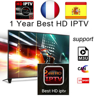 1 Year Arabic French UK Spain Germany Europe IPTV Italy 2500+ Channels for Android USB Wifi TV Box