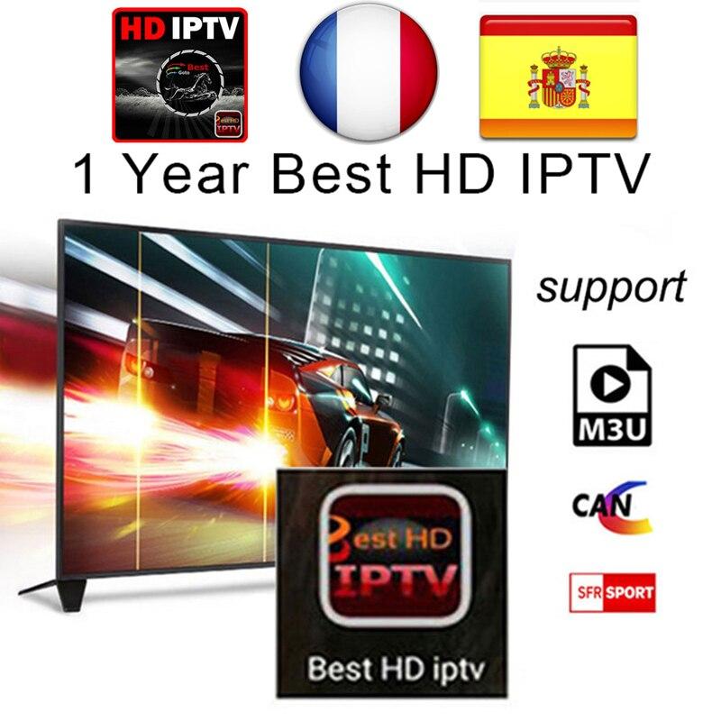1 año árabe Francés Reino Unido España Alemania Europa IPTV Italia 2500 + canales para Android USB Wifi TV Box