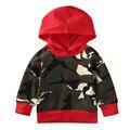 Ano novo Infantil Da Criança Do Bebê Meninos Roupas de Camuflagem Com Capuz Tops Manga Comprida com Capuz Outfit Roupas