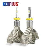 XENPLUS Car LED H7 bulbs 12000LM XHP50 Chips LED Headlight 4300K 6000K Lamps led H1 H3 H4 H11 H8 H9 fog Light