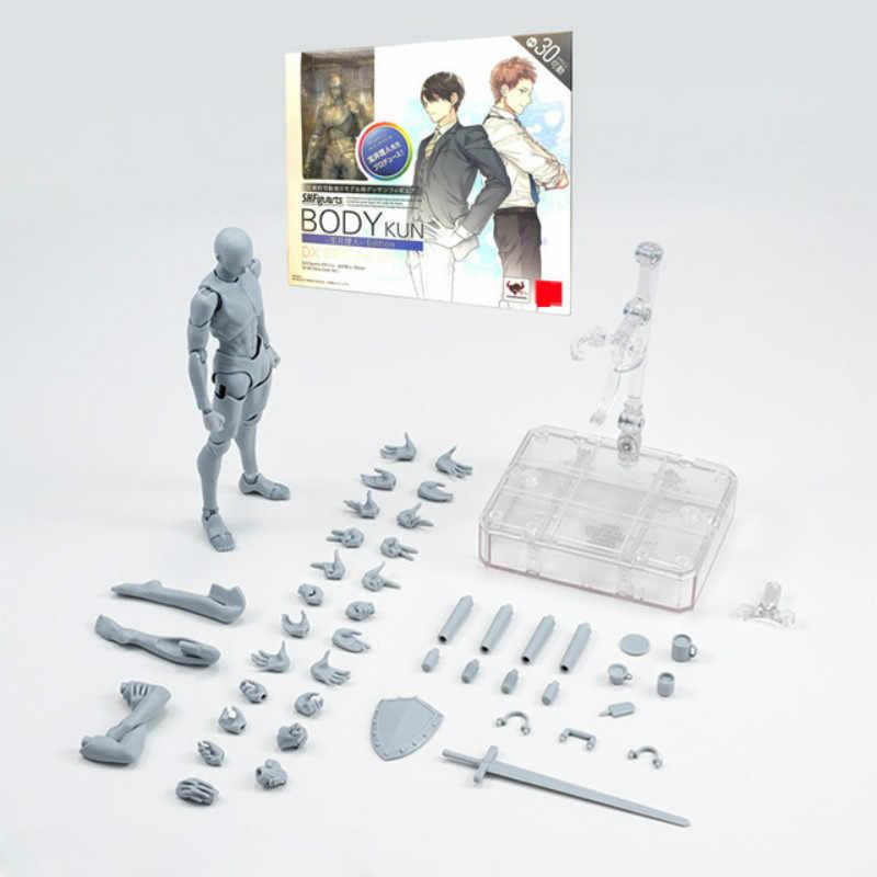 Новый SHFiguarts тела Кун/тела CHAN тела-chan тела-кун серый цвет Ver. Черная ПВХ фигурка Коллекционная модель игрушки