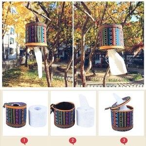 Image 4 - Tragbare Falten Pumpen Karton Werkzeug Tasche Auto Mit Seidenpapier Box Outdoor Camping Ausrüstung