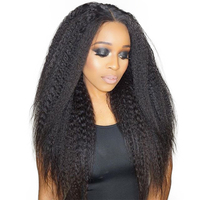 Kinky Straight Wig Lace Front Human Hair Wigs For Women 13x4 Brazilian Glueless Lace Fronal Wig 130 Density Ever Beauty Remy