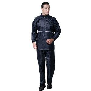Image 3 - Thick double raincoat split suit cross border direct rain pants adult reflective bicycle electric motorcycle riding waterproof