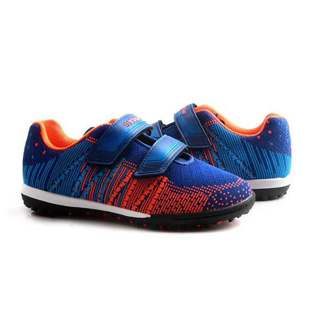 TIEBAO Futbol TF Turf Football Boots Boys Girls Sneakers Soccer Shoes Rubber Soles Breathable Knit Soccer Boots Sport Sneakers