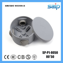 Saip ABS Material Round Waterproof Junction Box With 4 Holes SP-P1-8050 80*50mm