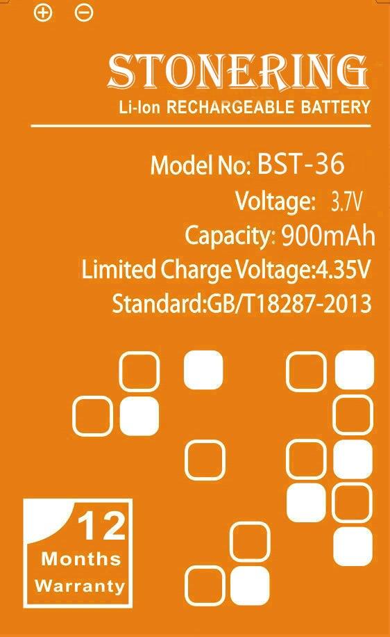 900 mAh BST-36 Batterie pour Sony Ericsson J300 J300C K510i Z550a Z550C Z550i Z558 K320 K310i K310 k310c W200 X0001