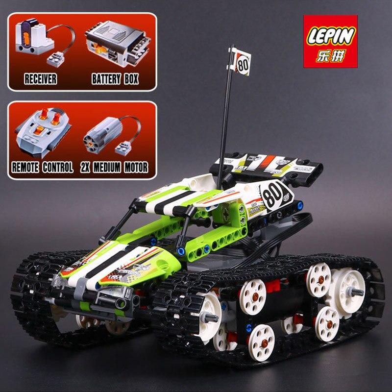 LEPIN 20033 Technic Series font b Remote b font Control Caterpillar Vehicles Model Building Block 397Pcs