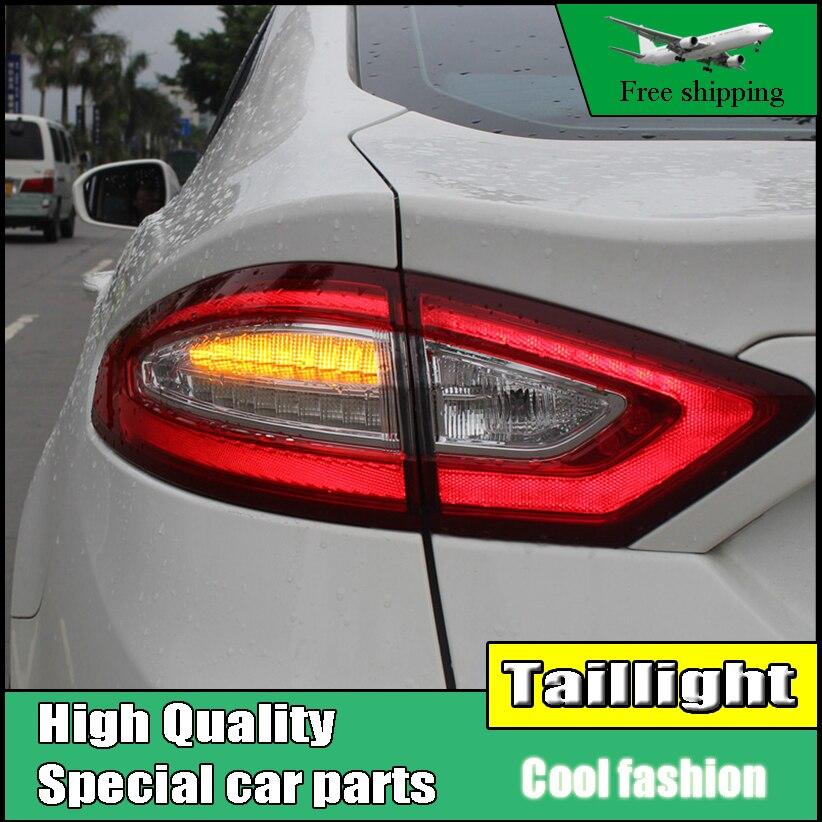 Стайлинга автомобилей Хвост свет чехол для Ford Mondeo Fusion задние фонари 2013-2016 светодиодный задний фонарь DRL + тормоз + Парк + световой сигнал
