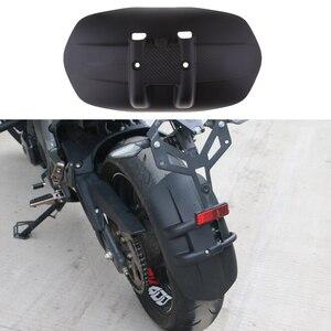 Image 4 - 35cm Black Plastic Universal Motorcycle Motorbike Rear Front Mud Guard With Mount Bracket #004