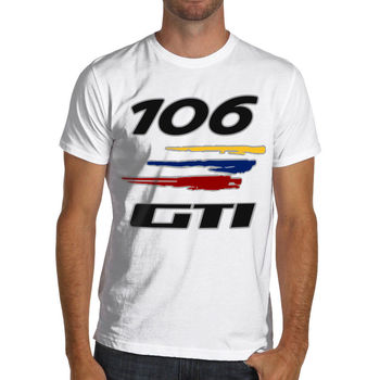 2019 Summer Cool T-shirt French car fans 106 Gti Racings Soft Cotton T-Shirt Rally Funny Tee Shirt image