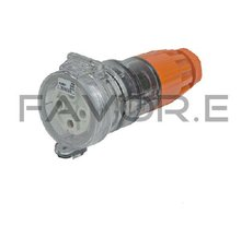 50A three phase 4 round pin female plug industrial lead connector 56CSC450
