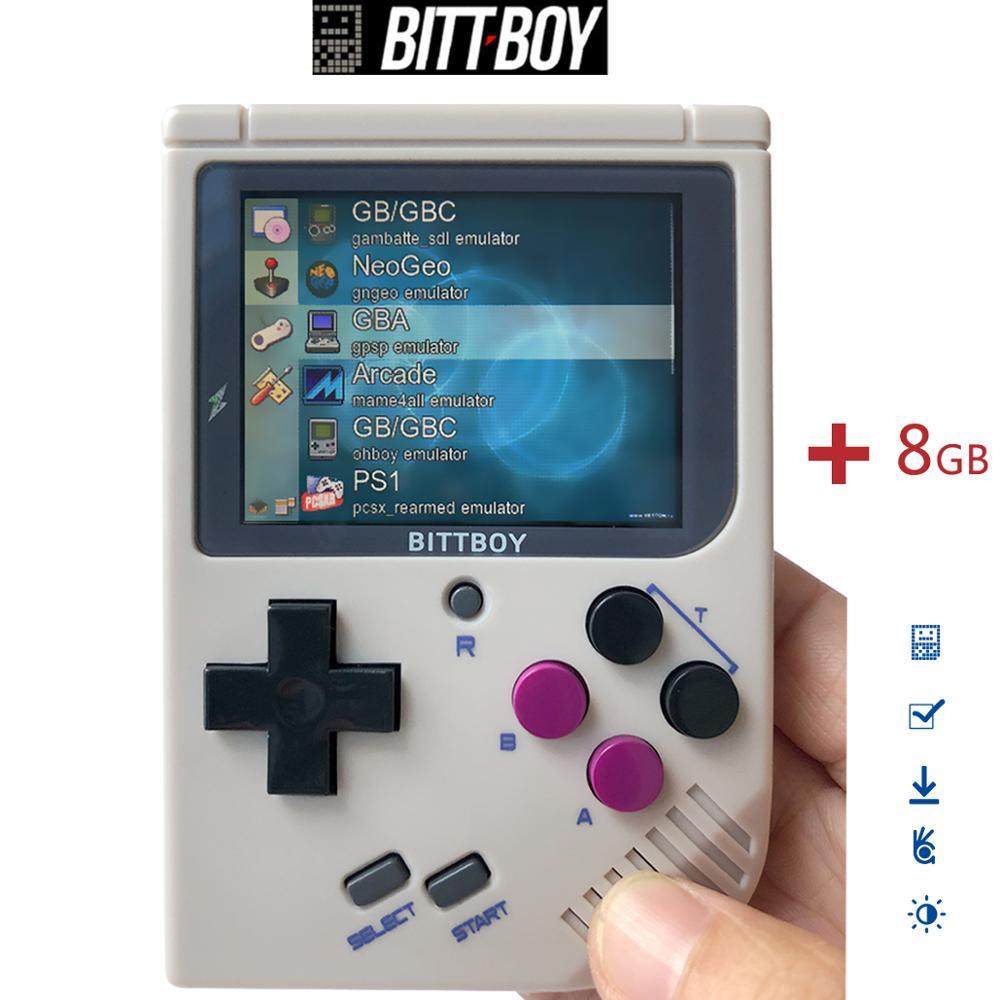 Jeu vidéo rétro, BittBoy V3.5 + 8 GB/32 GB, console de jeu, lecteurs de jeux portables, Console rétro, charger plus de jeux à partir de la carte SD