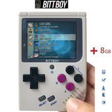 Retro วิดีโอเกม,BittBoy V3.5 + 8 GB/32 GB,เกมคอนโซล,ผู้เล่นเกมมือถือ, คอนโซล retro,โหลดเกมอื่นๆจาก SD card