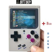 Retro gier wideo, BittBoy V3.5 + 8 GB/32 GB, konsola do gier, konsola do gier, konsola do gier retro, obciążenie więcej gier z karty SD