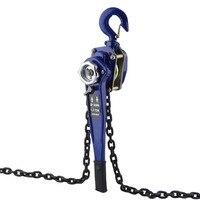 Compact Manual Lever Block Crane Lifting Sling Tool Hand Chain Hoist Ratchet Hoist Pulley Pulling Force 1.5T